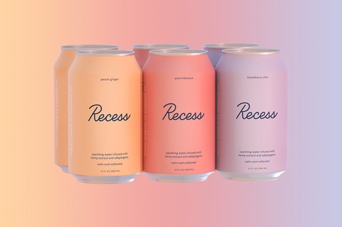Recess is sparkling water infused with CBDs. (Photo courtesy of Recess.)