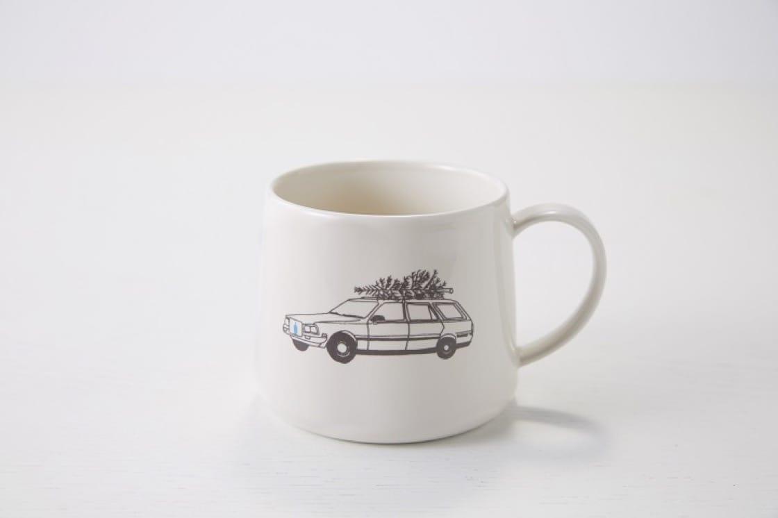 節日限定馬克杯,簡約美觀,咖啡迷必定喜歡。(圖片:藍瓶咖啡)