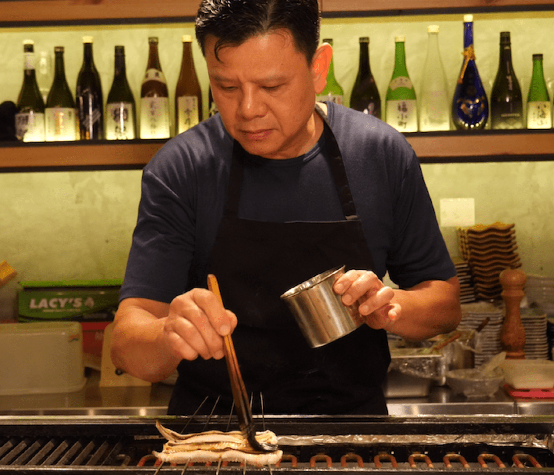Chi Pin Han, the chef-owner of Ishinomaki Grill & Sake