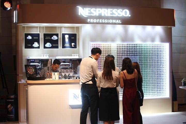 Guests were treated to Nespresso Exclusive Selection Nepal Lamjung and Kenya Milima coffee.