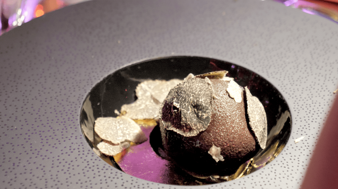 """The """"Truffle"""" dessert by Legendary French pastry chef and chocolatier Pierre Herme."""