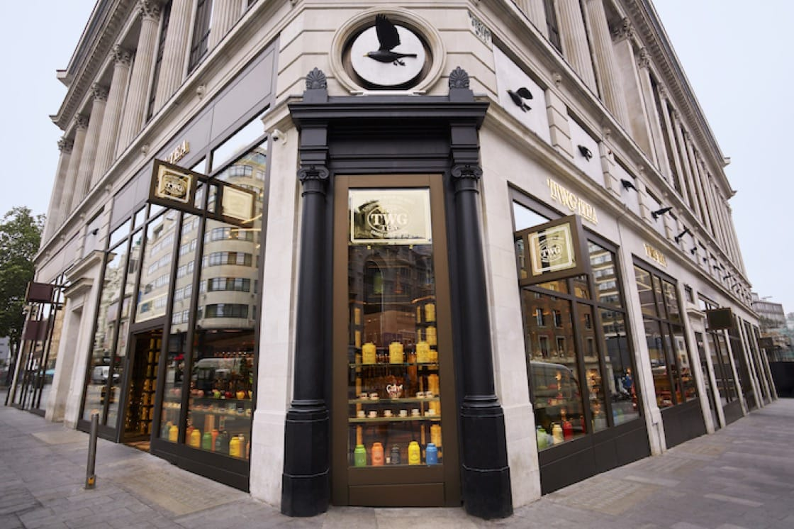 TWG Tea's Leicester Square outlet in London features its first tea museum. (Credit: TWG Tea)