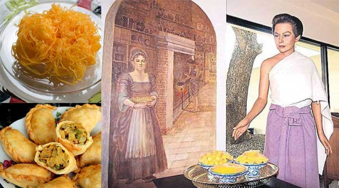 Golden threads, curry puffs and a wax model of Marie Guyomar de Pinha at the Japanese village in Ayutthaya. (Photo credit: Bangkok Post)