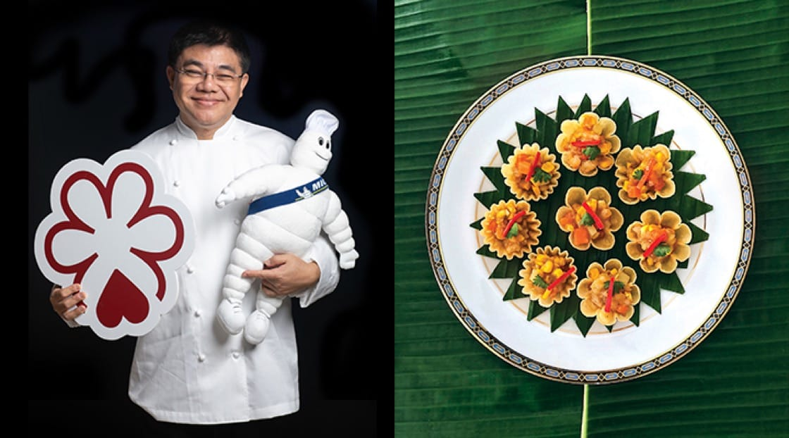 A proud Chef Jirawut Sapkiree, from Methavalai Sorndaeng.