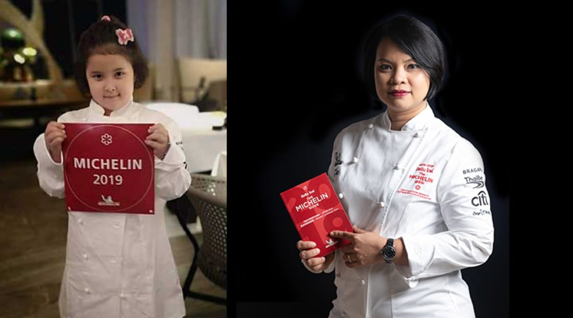 Like mother, like daughter, Chef Bee's daughter knows everything about Michelin Stars.