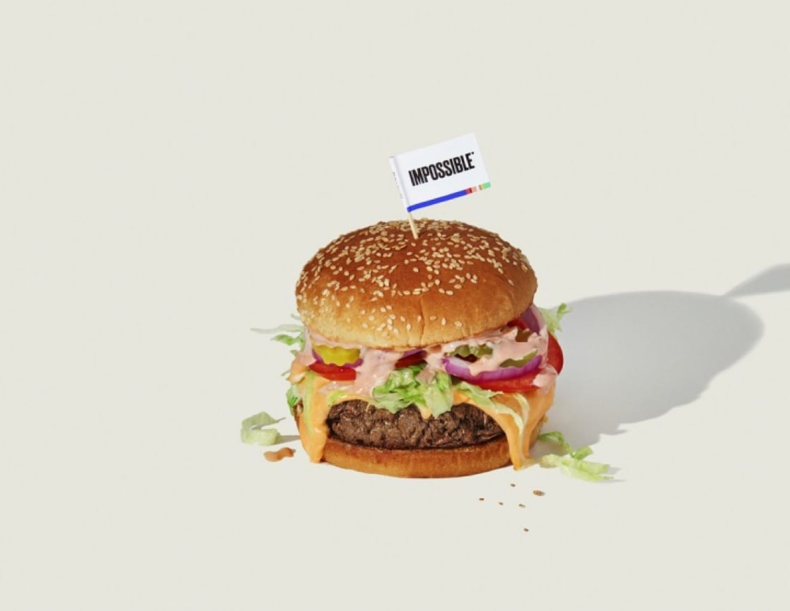The Impossible Foods的漢堡包(圖片:The Impossible Foods)