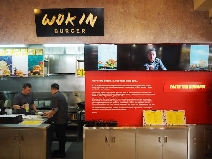 Wok In Burger is located at a corner in Keng Eng Kee Seafood Restaurant. (Credit: Kenneth Goh)