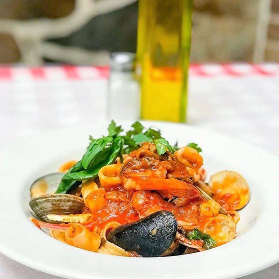 Linguine pescatore at F&J Pine Restaurant. (Photo courtesy of F&J Pine Restaurant's Facebook page.)