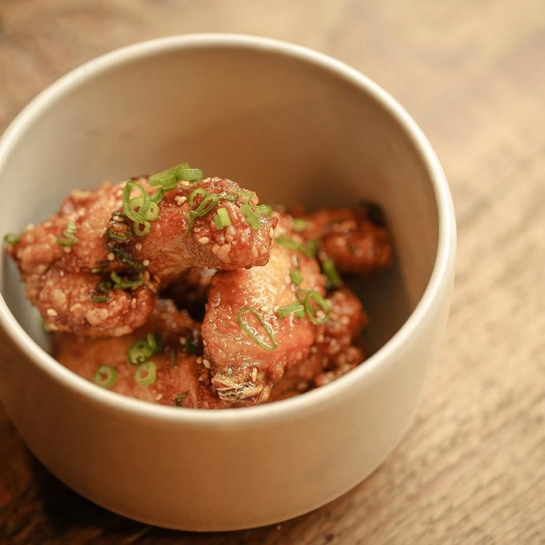 Korean fried chicken wings with garlic and ginger at The Snug. (Photo courtesy of The Snug.)