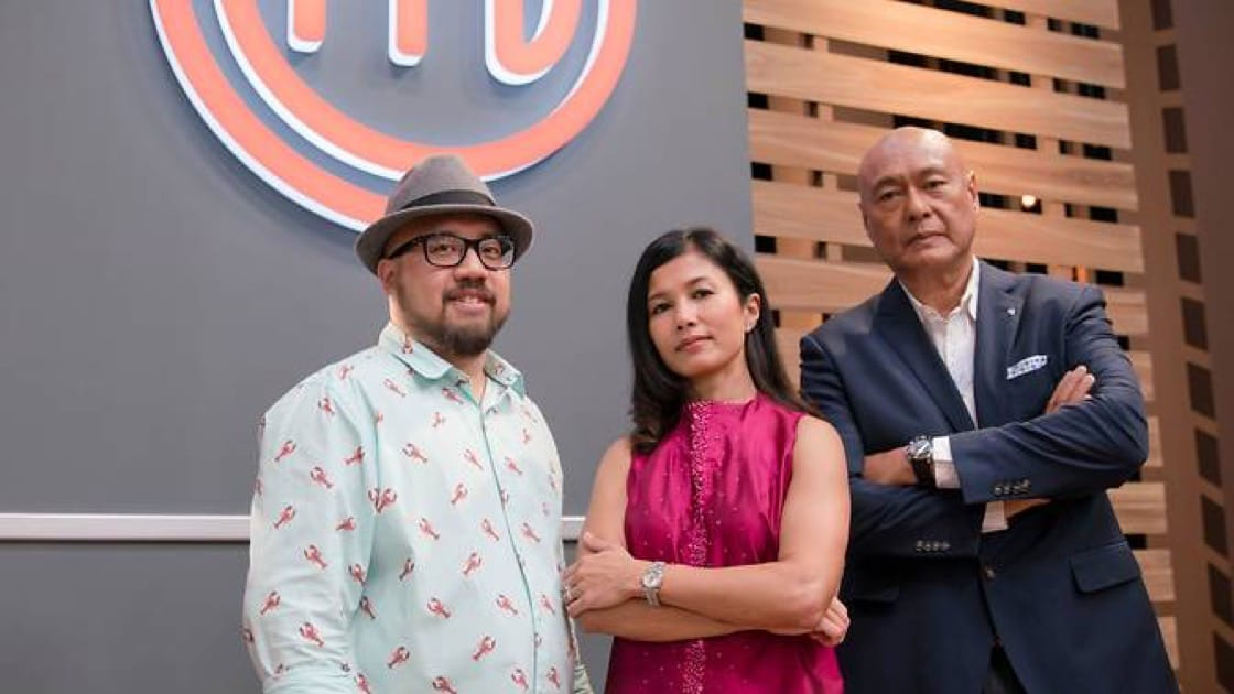 The judges of MasterChef Singapore: Bjorn Shen, Audra Morrice and Damian D'Silva (Photo: MasterChef Singapore)