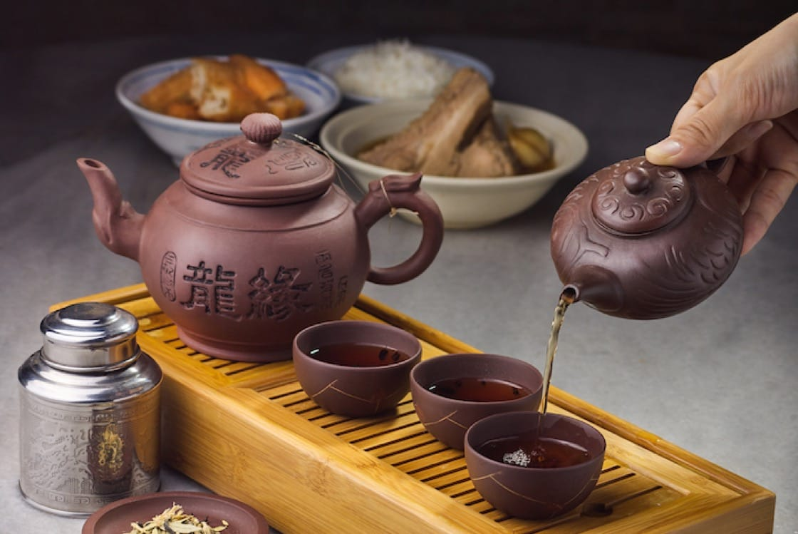 """""""Meat bone tea"""" is so named because the soupy dish is traditionally accompanied by Chinese tea (Pic: Ng Ah Sio Bak Kut Teh)"""