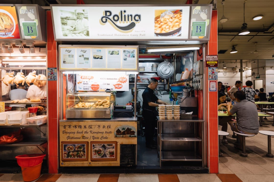 One of the new participating eateries this year is new Bib Gourmand awardee Rolina Traditional Hainanese Curry Puffs.