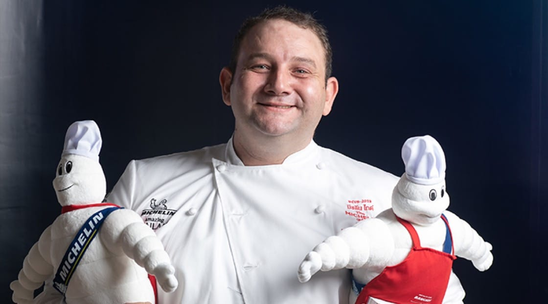 Chef Arnaud Dunand Sauthier of Le Normandie (2 Michelin stars).