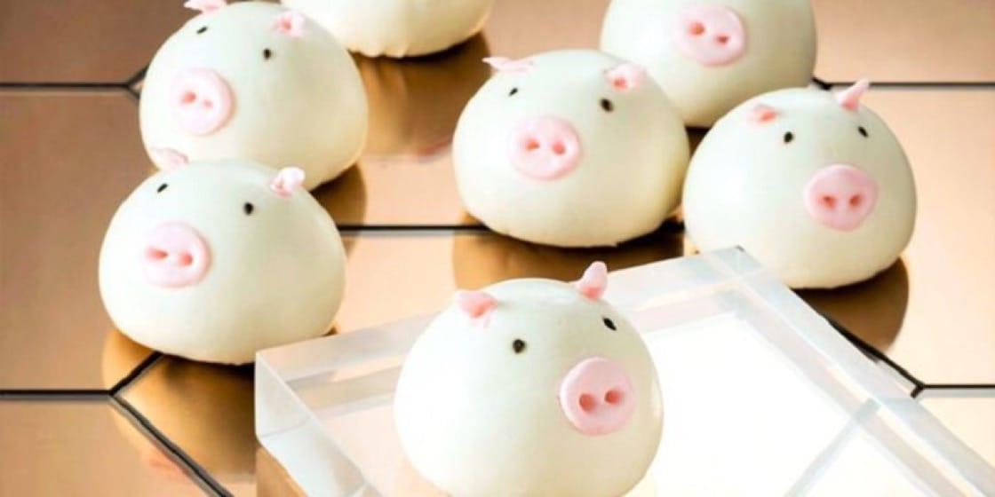 YUM CHA豬八戒造型的叉燒包,十分可愛。(圖片:Chope)