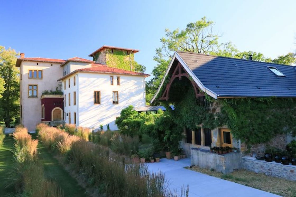 In 2017, the Troisgros family relocated their restaurant from Roanne to a 19th century manor estate in the Ouches countryside. (Photo courtesy of Le Bois sans Feuilles.)