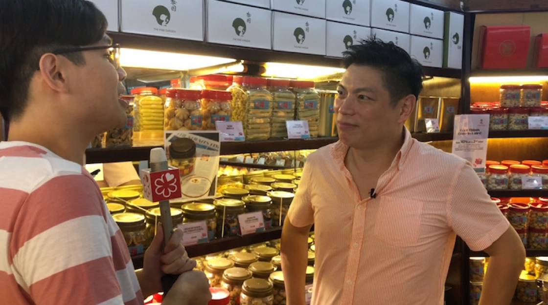 Mr Wei Chan (right), managing director of The Pine Garden gives us a tour on how pineapple tarts are made at the long-time bakery.