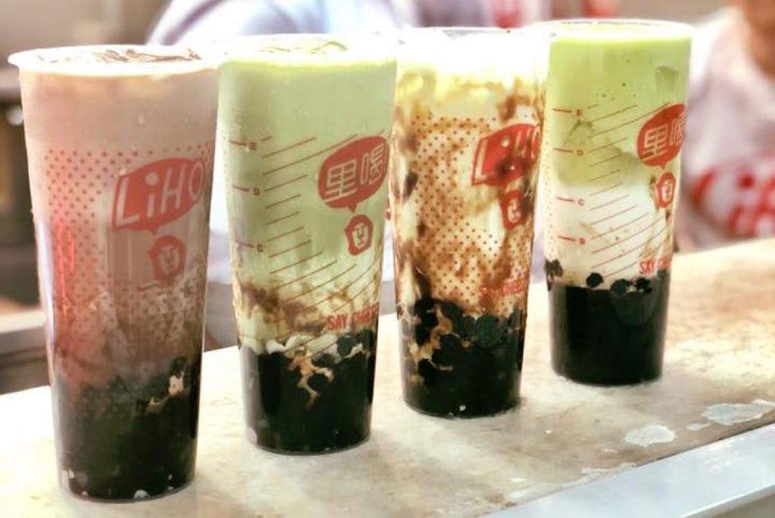 LiHO TEA offers the beverage with options like salted egg custard and avocado (Pic: LiHO TEA Singapore Facebook)