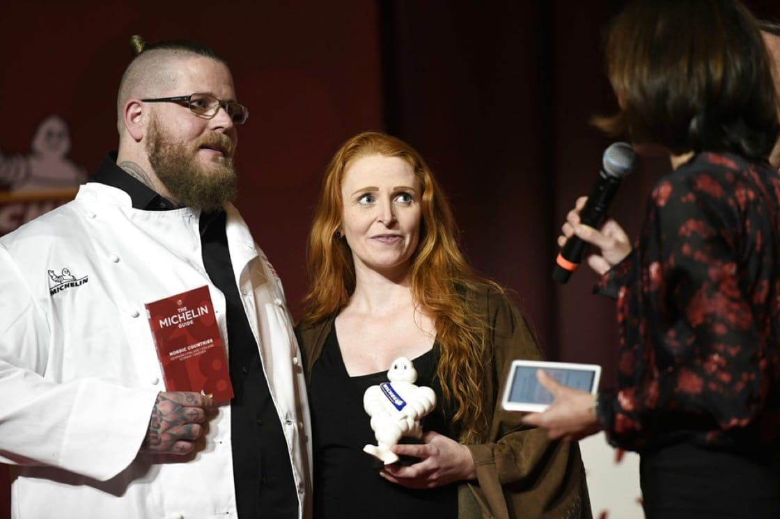 Eric and Tina Vildgaard received their Michelin star at the MICHELIN Guide Nordic Countries 2018 last year. (Photo by Philip Davali/Scanpix 2018.)