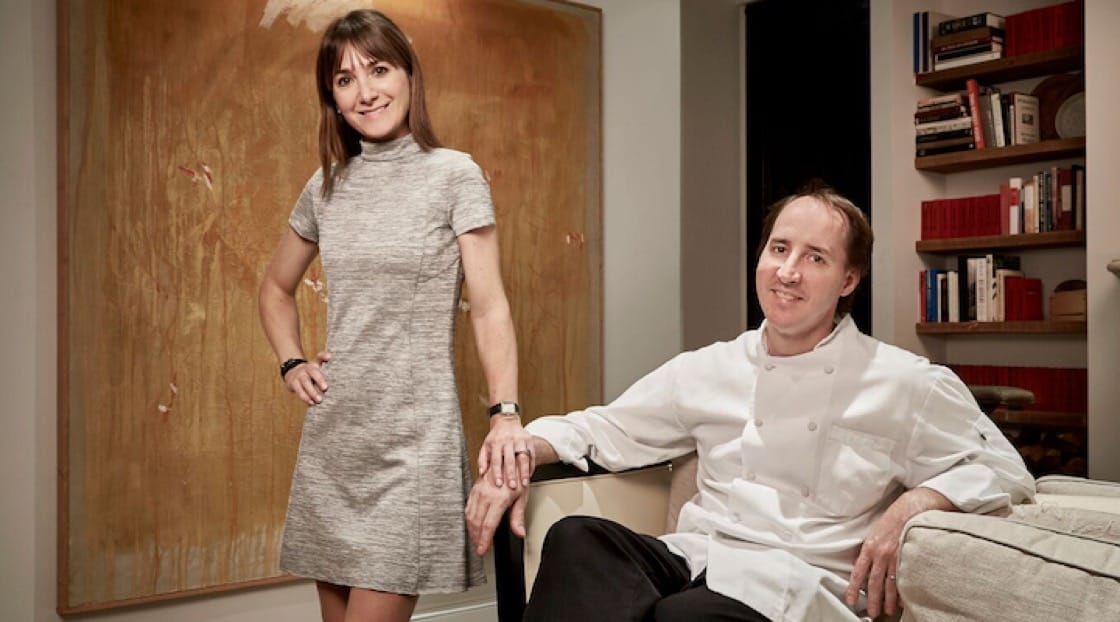 Eric Ziebold and Célia Laurent run two separate Michelin-starred restaurants under one roof. (Pic: Greg Powers)