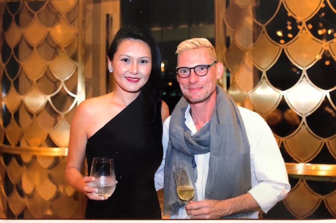 Emmanuel Stroobant and Edina Hong are the dynamic duo behind not one, but two of Singapore's Michelin-starred restaurants. (Photo courtesy of Saint Pierre.)