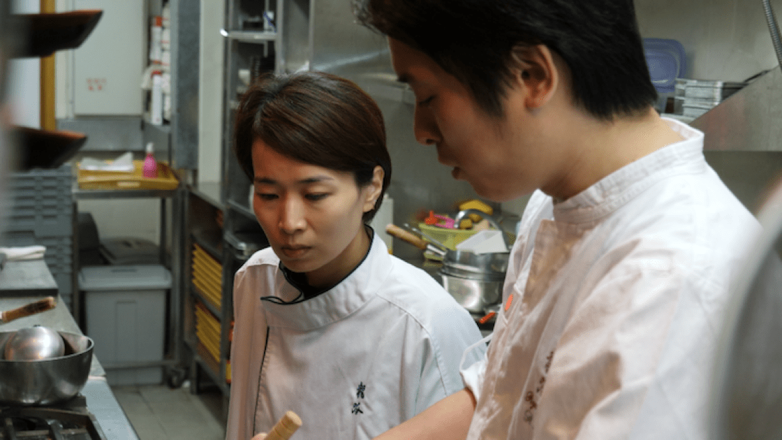 Hidemichi and Mizuho Seki run two-starred Tenku Ryugin in Hong Kong. (Photo by MICHELIN Guide Digital.)