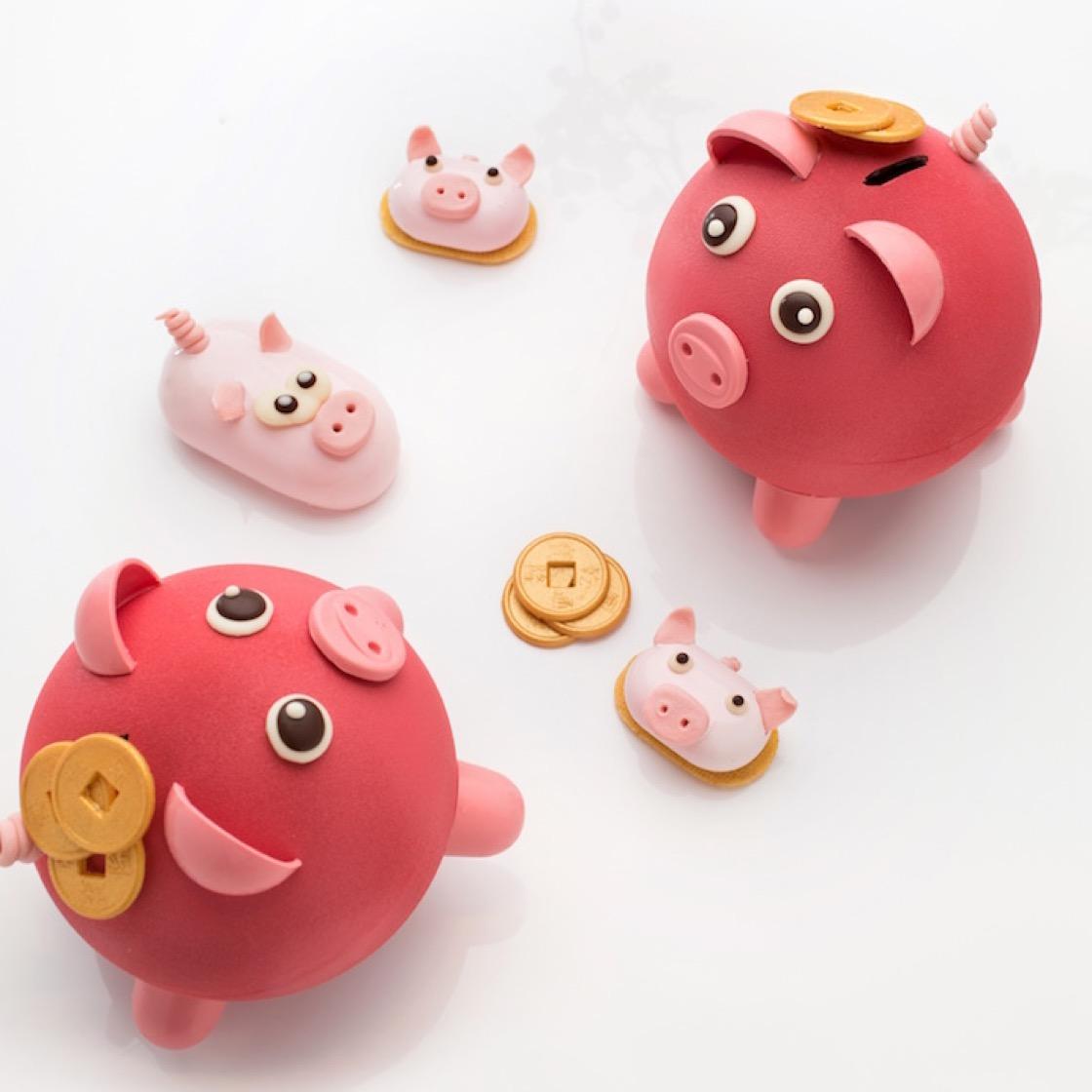 豬來貴巧克力撲滿。(圖片提供:台北君悅)
