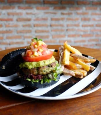 Broccoli Revolution- Charcoal Quinoa Burger.JPG