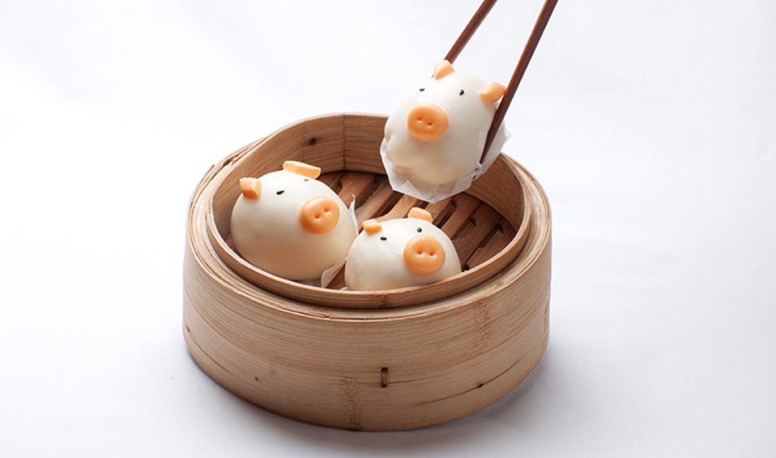 Piglet dumplings at Golden Unicorn. (Photo courtesy of Golden Unicorn.)
