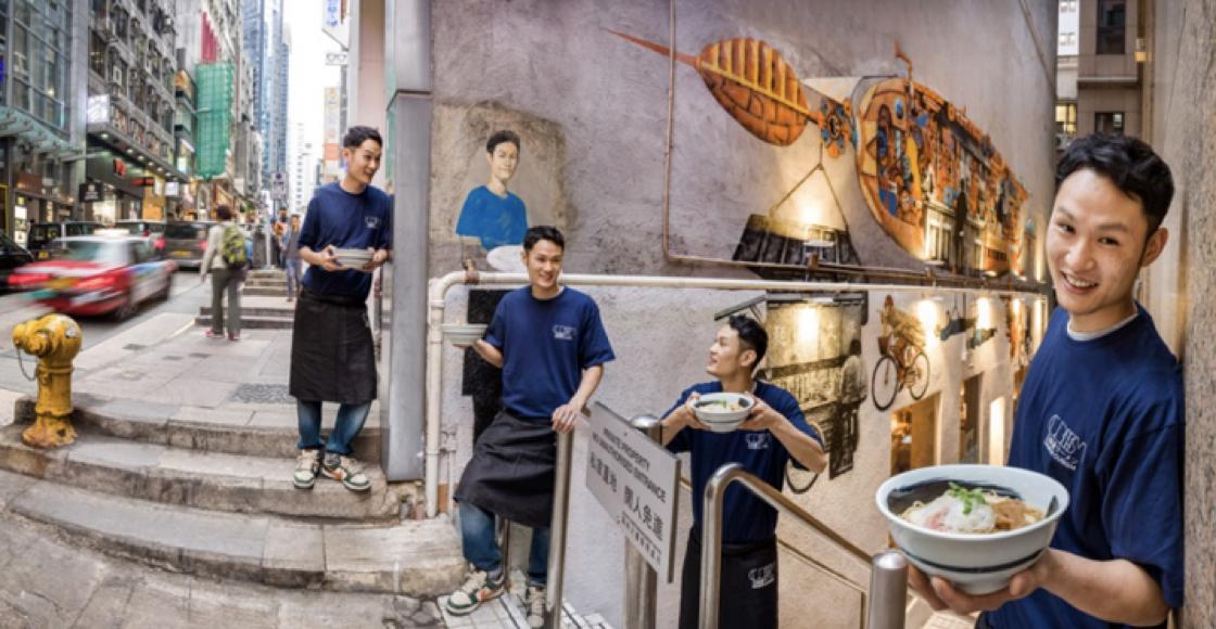 來自大阪的拉麵,以跳脫形象出現香港。(圖片:立体派)