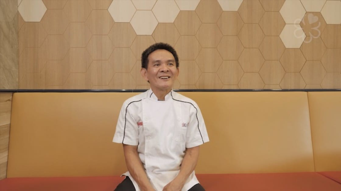 Chan Hon Meng of Liao Fan Hawker Chan Hawker Stall likens his wife to old cucumber soup.