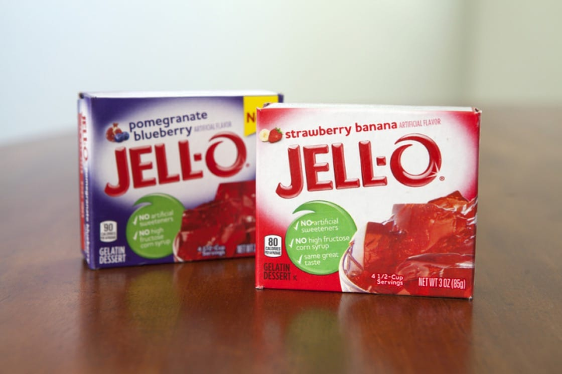 Commerical gelatin powders replaced the need for boiling down meat.