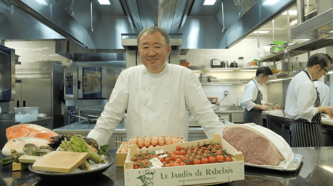 Chef Tetsuya Wakuda sources seasonal ingredients from all over the world for Waku Ghin. (Photo: Kenneth Goh)