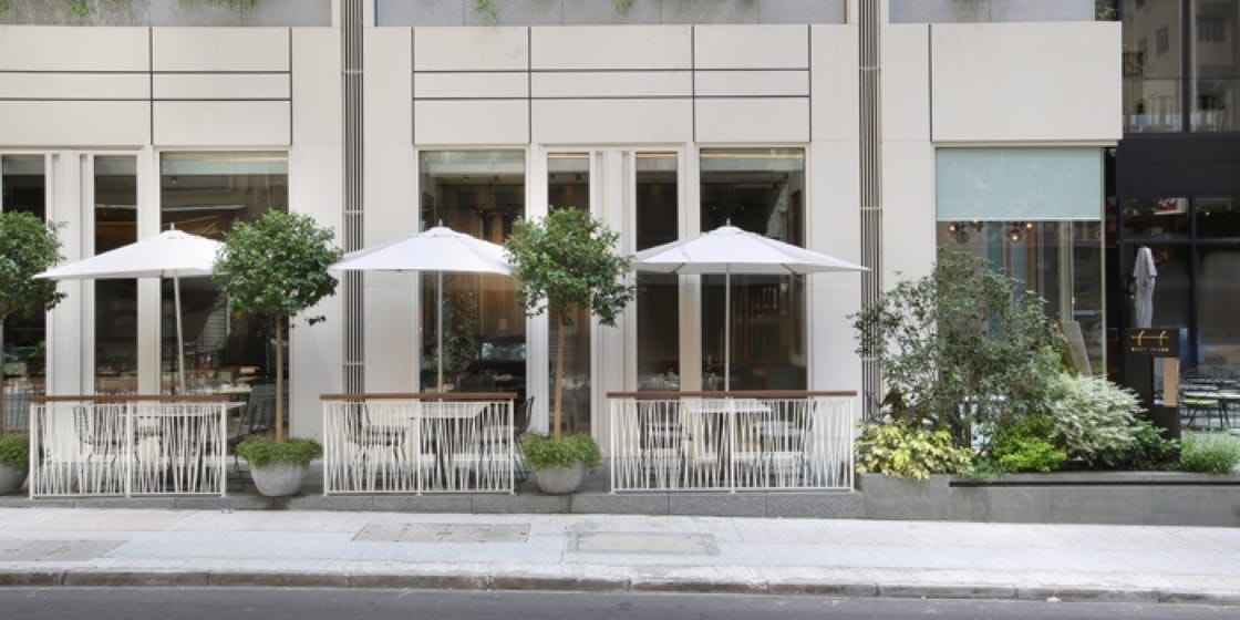 The al fresco dining area at Cobo House is a great photo spot with lots of natural light.