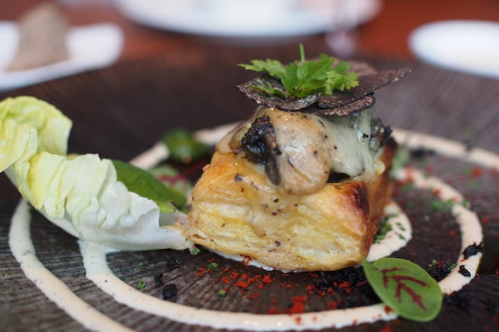 Baked escargot and comte cheese tart at La Brasserie (Pic: MICHELIN Guide Digital)