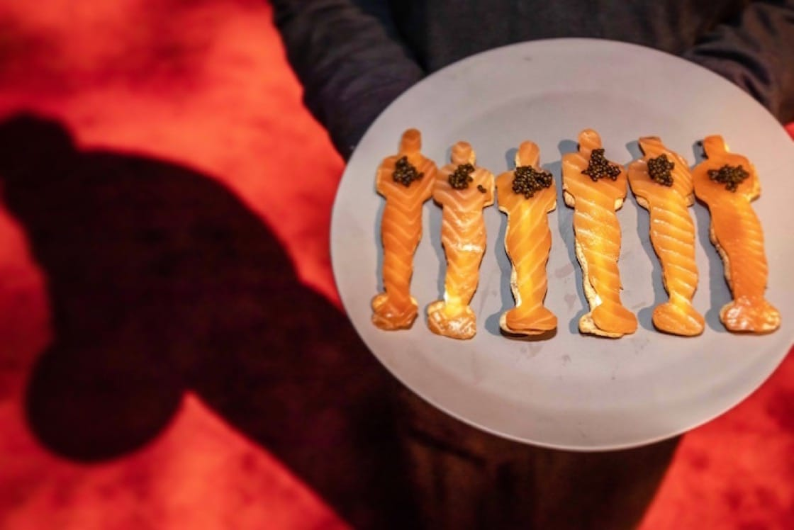 Puck's signature smoked salmon Oscar statuettes (Pic: Wolfgang Puck Catering)
