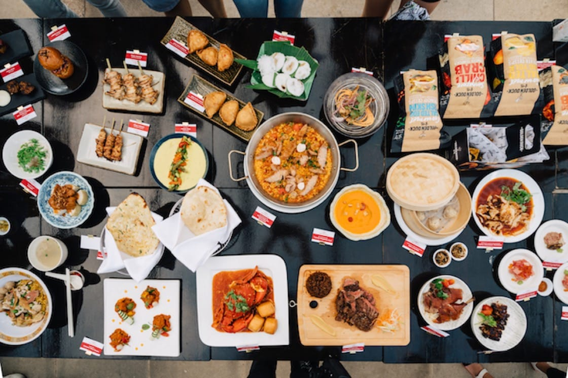 The mouth-watering spread from the dining establishments and partners of the MICHELIN Guide Street Food Festival.