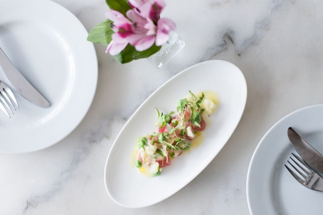 Tuna crudo. (Photo by Beth Kennedy.)
