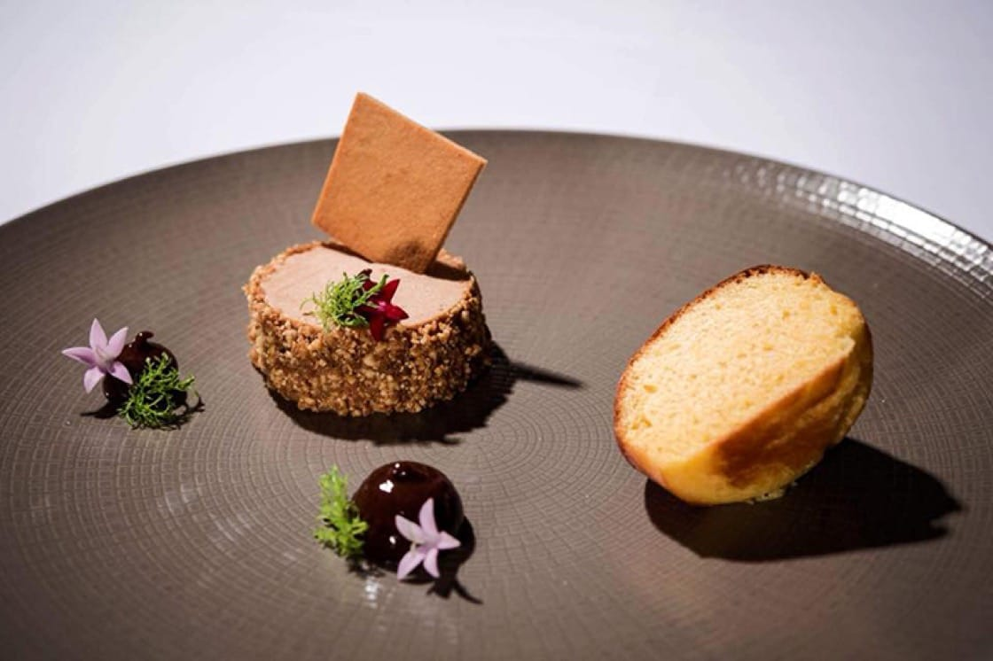 Foie gras, plum jam and hazelnut brioche at Draga di Lovrana. (Photo by Dean Dubokovič.)