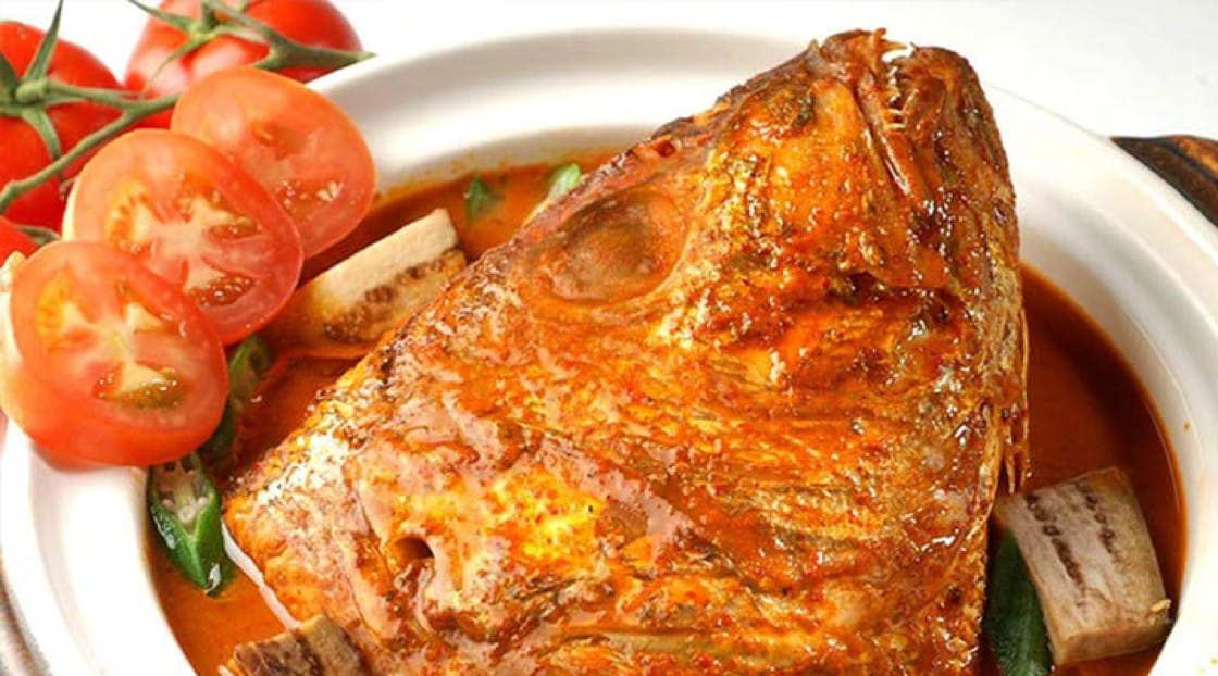 The fish head may be not the most visually appealing, but is considered a delicacy in Singapore.