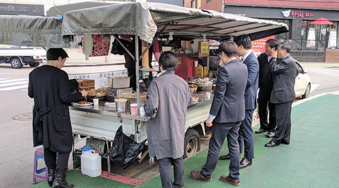 Ddukbokki and odeng is often enjoyed street-side by all.