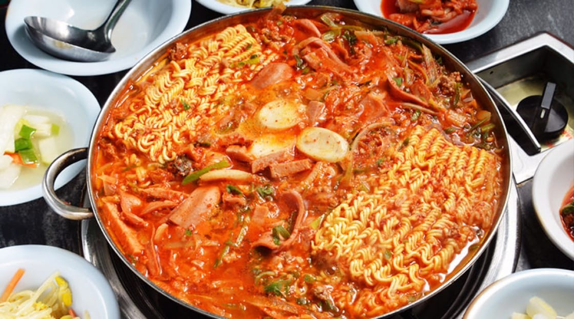 Budae Jjigae is a legacy from the Korean conflict in the 1950s.
