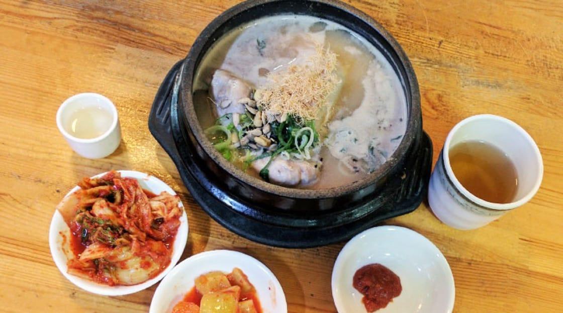 Samgyetang is believed to promote good health in Korea.