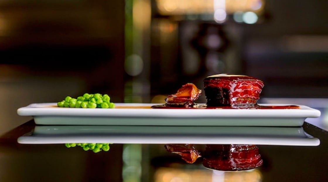 A contemporary version of donpo pork from the Four Seasons Hotel, Hangzhou.