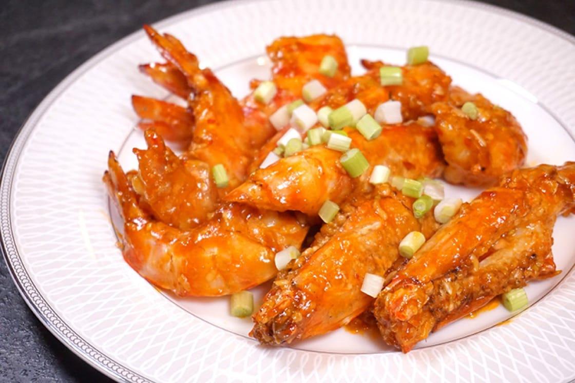 乾燒酒醩蝦碌,醬料有酸有甜,味道層次更顯豐富。(圖片:區佩嫦)