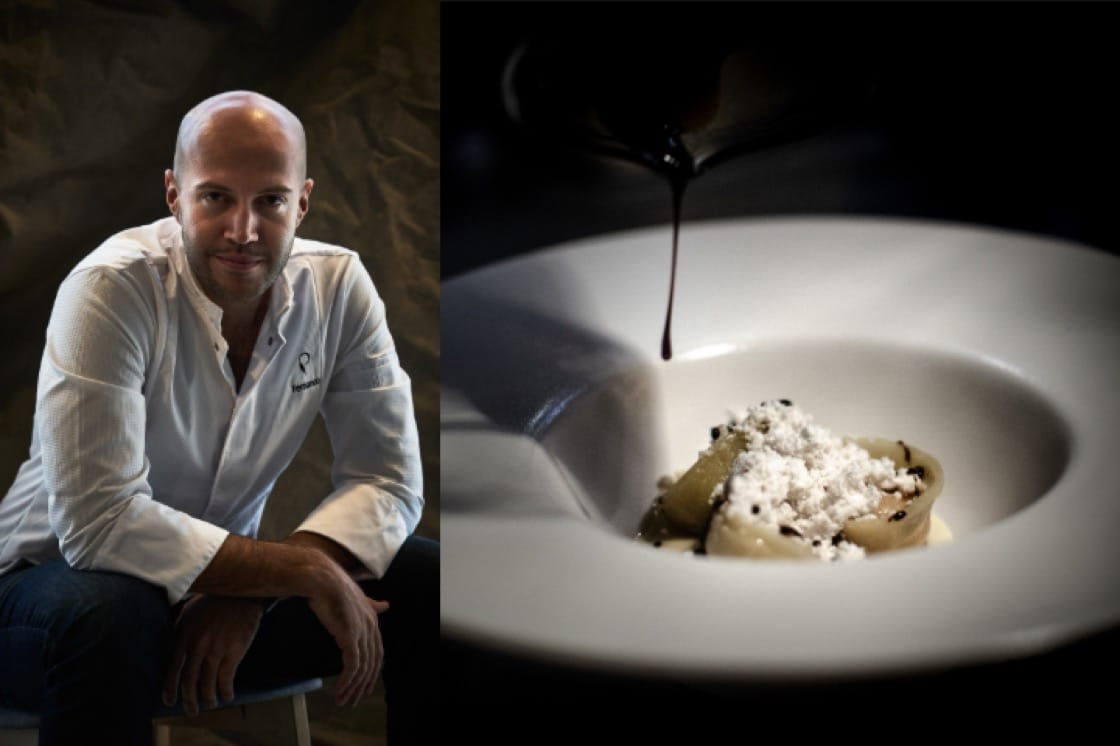 Fernando Arevalo and his La Cortina dish (Pics: Preludio)
