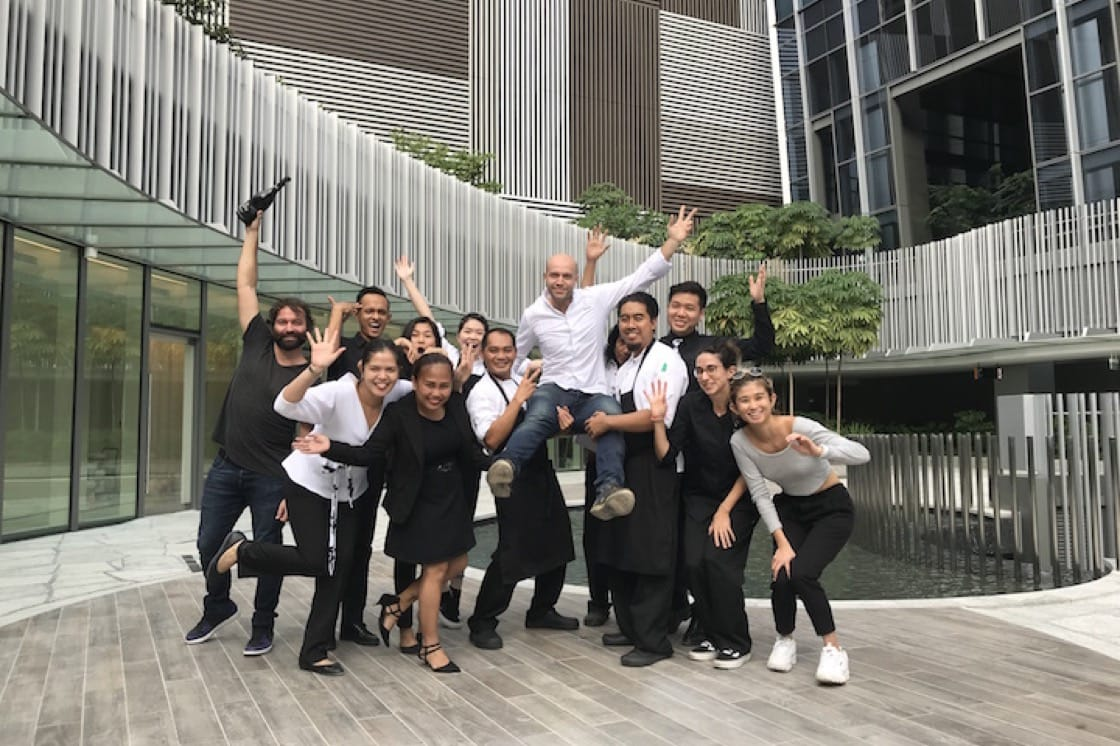 The team at Preludio pull a fast one on their guests. (Photo by MICHELIN Guide Digital.)