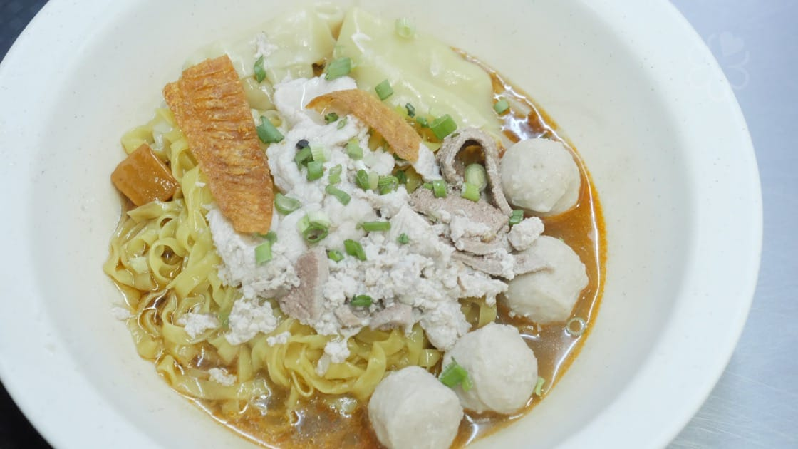The bak chor mee at Tai Wah Pork Noodle