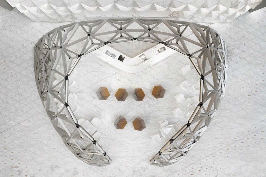 艾爾曼尚廊(Pierre Herme Lounge)採用鳥巢式設計。