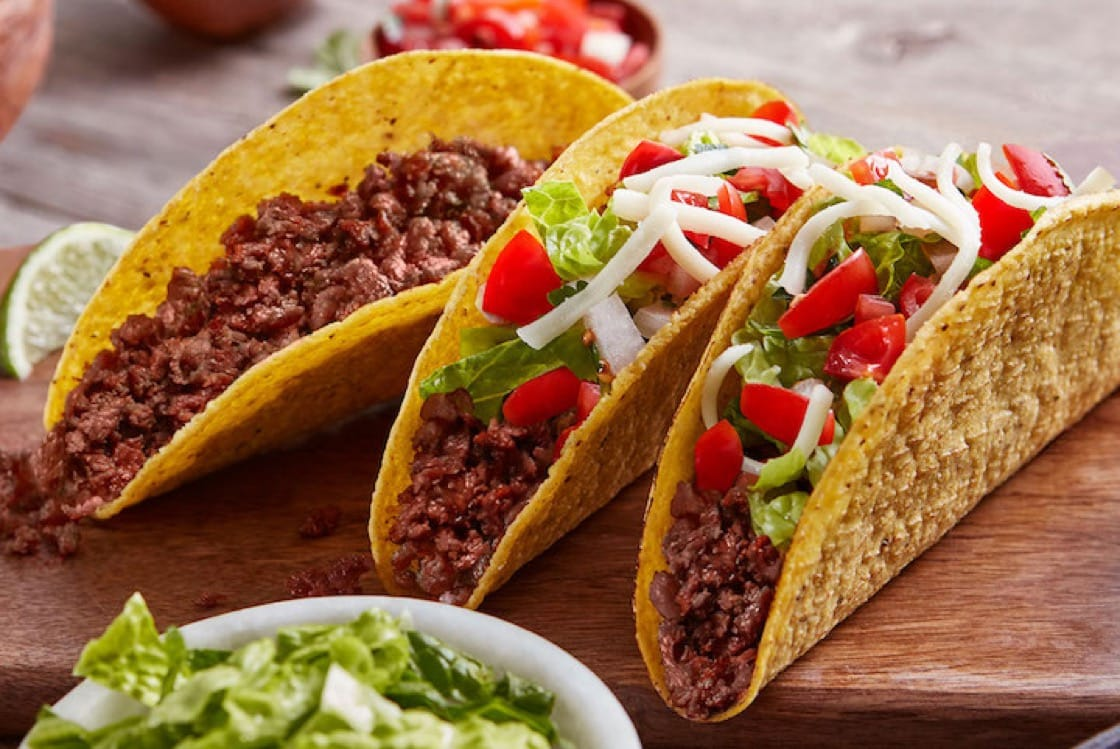 Beyond Beef Crumbles made into tacos (Pic: Beyond Meat)