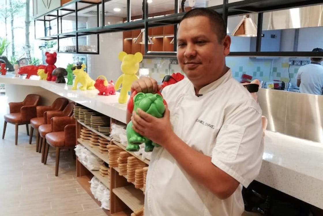 Chef Daniel Chavez of Tonito, a Latin American restaurant in Jewel Changi Airport.